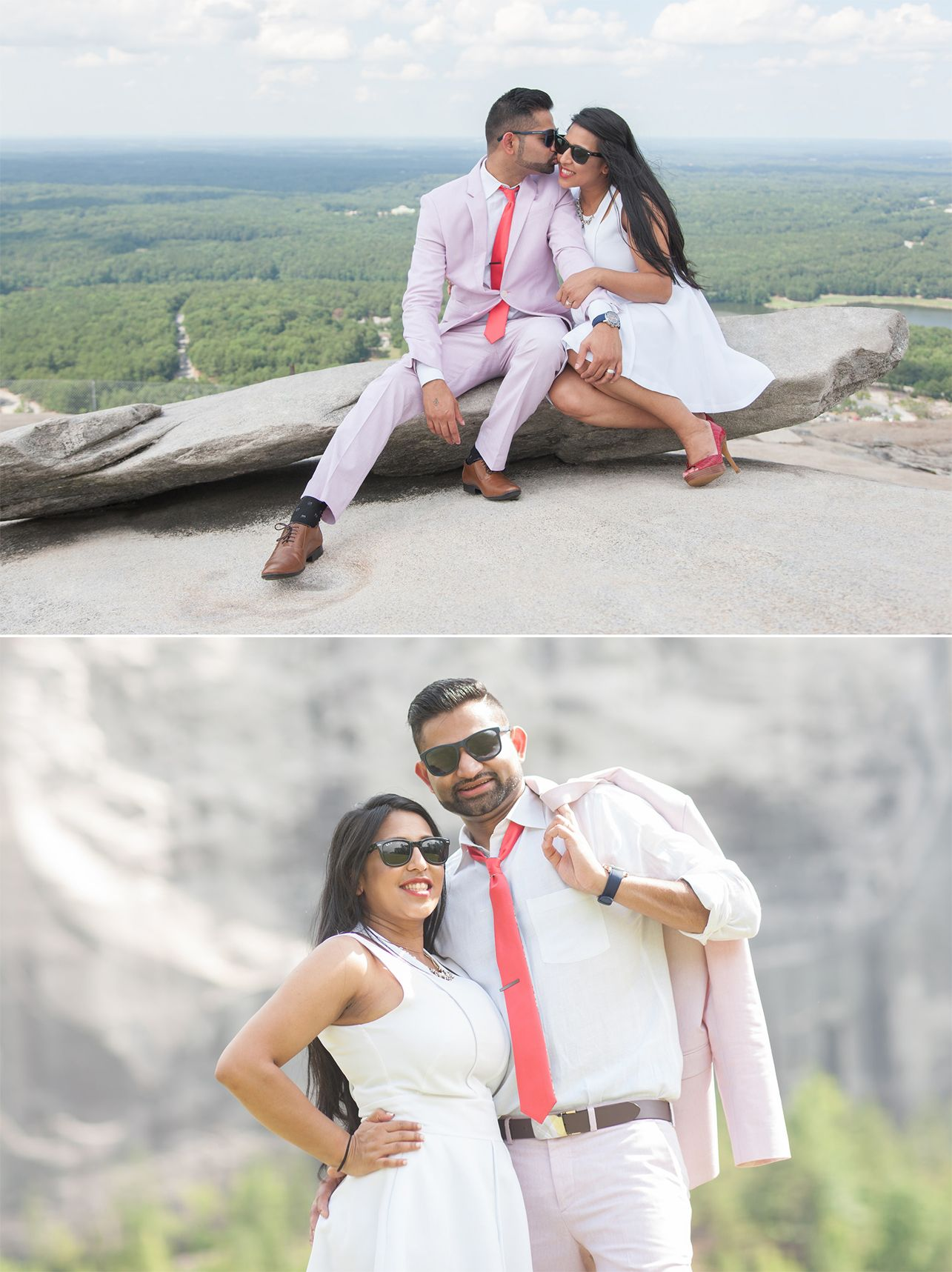 Stone Mountain Garrett Frandsen Engagement Shoot Wedding Photography Indian Esession Inspiration Atlanta Georgia