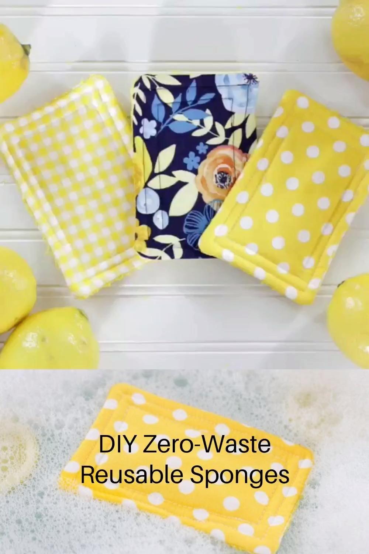 DIY Zero-Waste Reusable Sponges