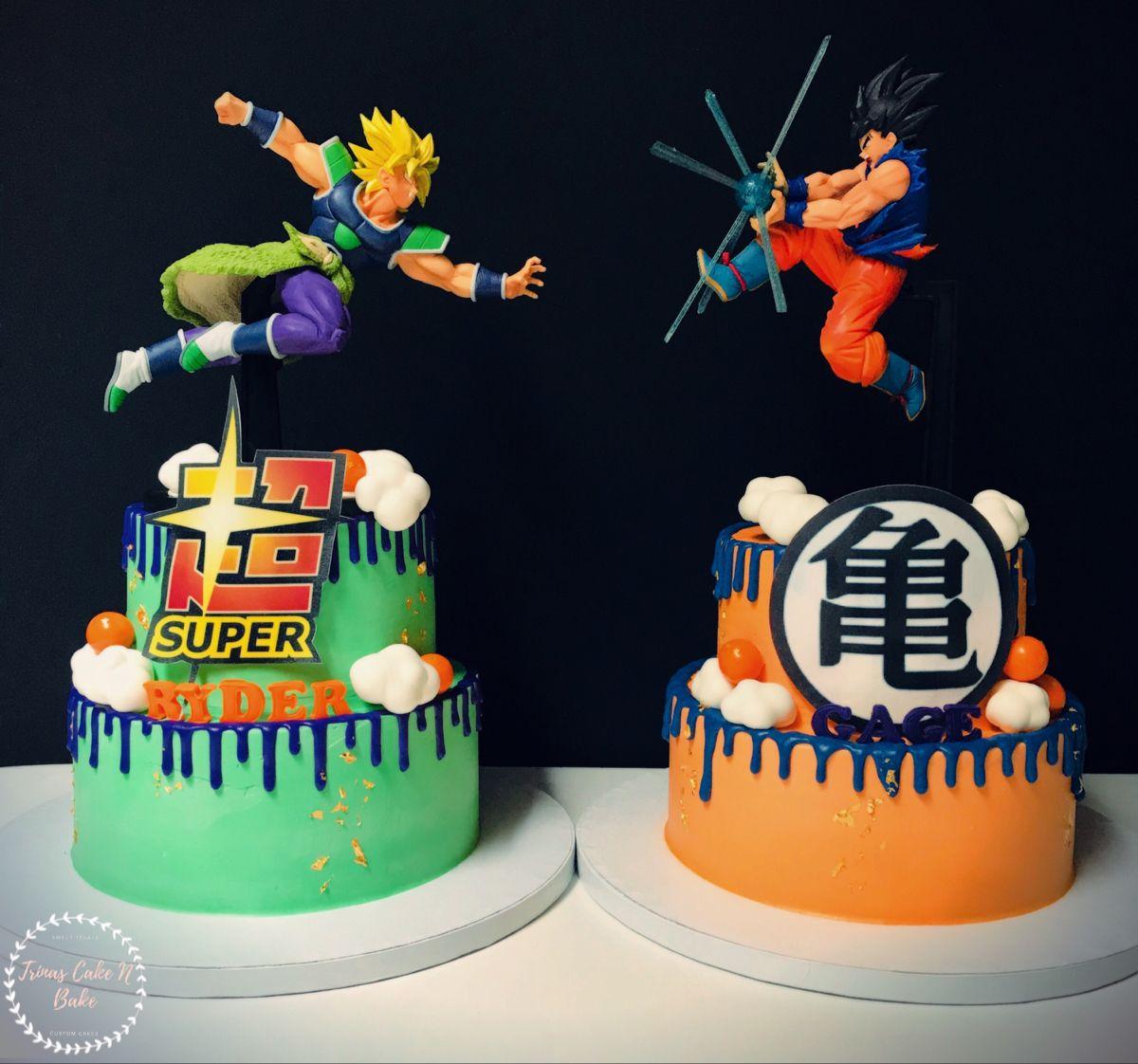 Dragon Ball Z Twins Cake Anime Cake Cake Twins Cake