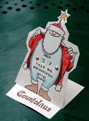 Die Tage sind gezählt! Gönnen auch Sie sich den Countolaus!  Downloaden, basteln und countdownen. Viel Spaß damit!