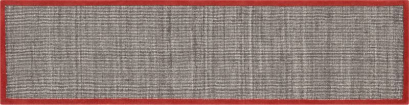 Best Tweed Dark Brown Linen With Burnt Orange Border 2 5 X10 400 x 300