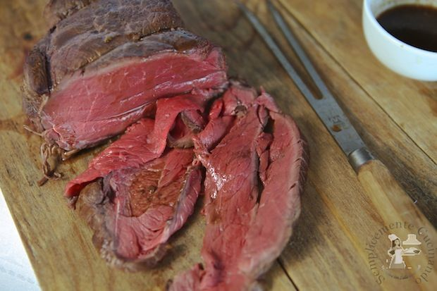 Photo of Roast beef cooked at low temperature-Roast beef cooked at low …