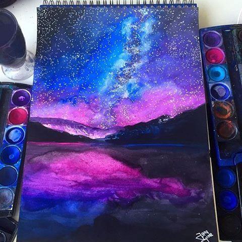 Galaxy Painting By Jg Draws Arts Gallery Galaxy Painting