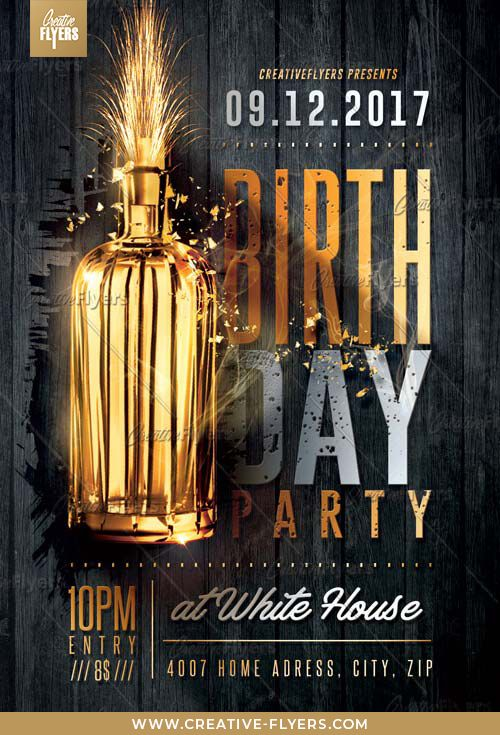 Birthday Party Flyer Psd Templates Creative Flyers Free Flyer