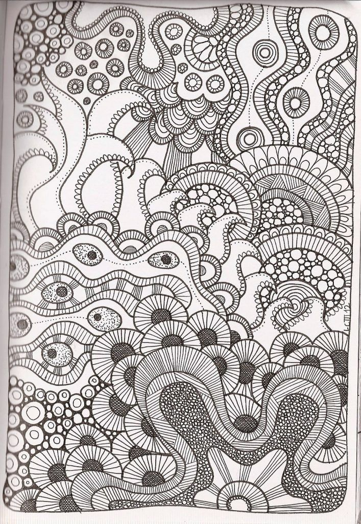 Free Printable Zentangle Coloring Pages For Adults Zentangle