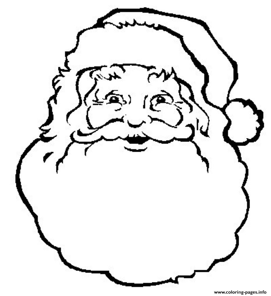 Print face of santa claus s freee02a coloring pages (With ...