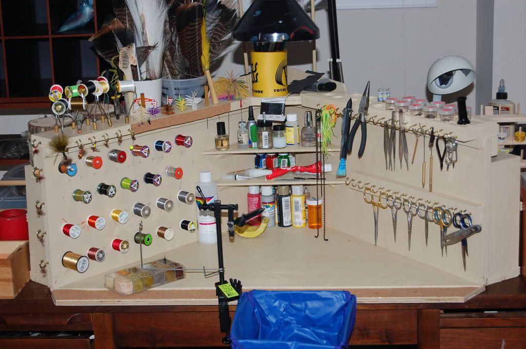 fly tying tool organizer