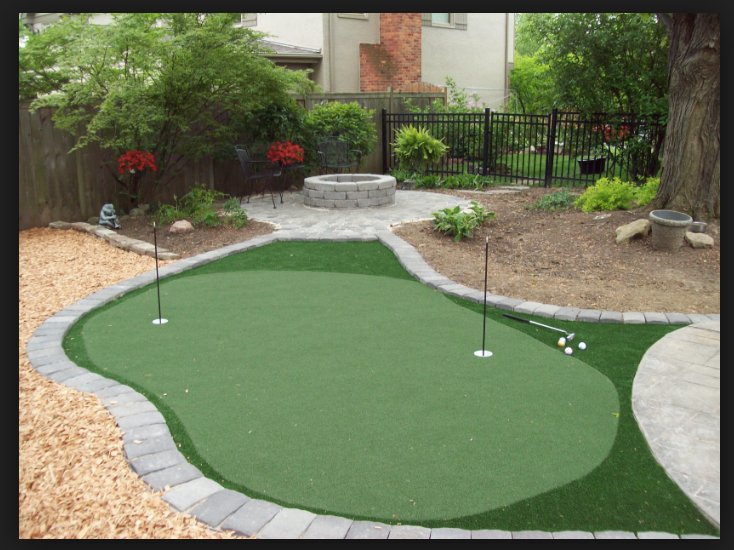 Pin By Synthetic Grass Masters On Putting Greens Backyard Putting Green Green Backyard Backyard Landscaping Designs