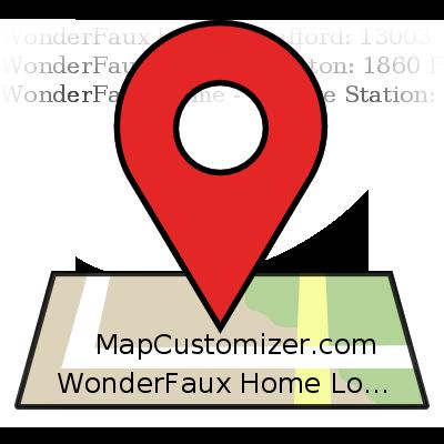 WonderFaux Home Locations | MapCustomizer.com: Plot multiple ...