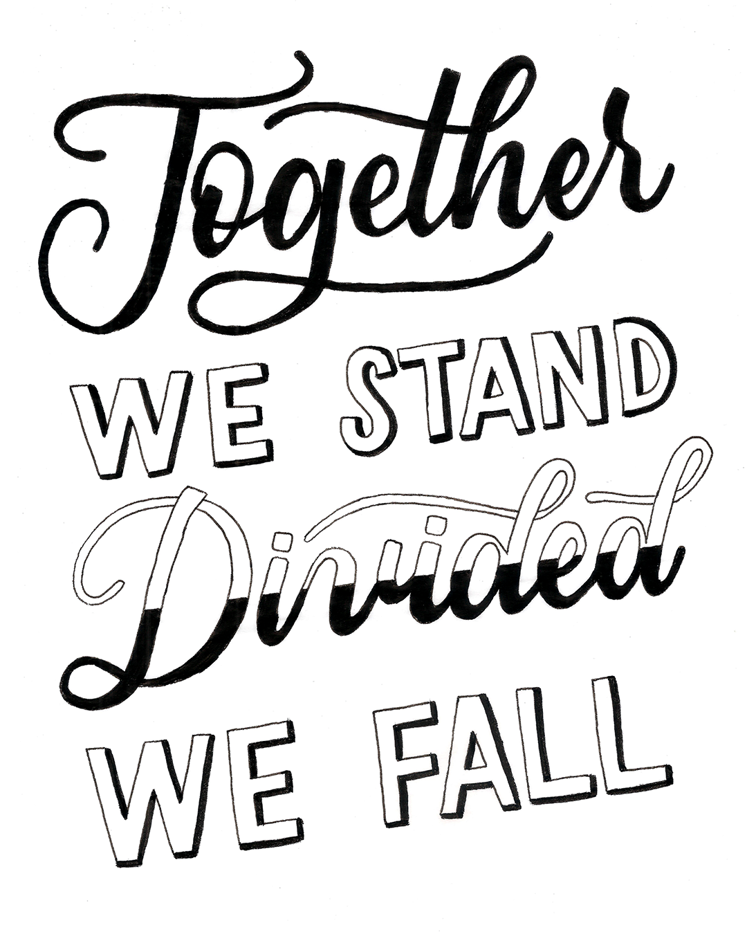 Together we stand, divided we fall / Pink Floyd / Lyrics