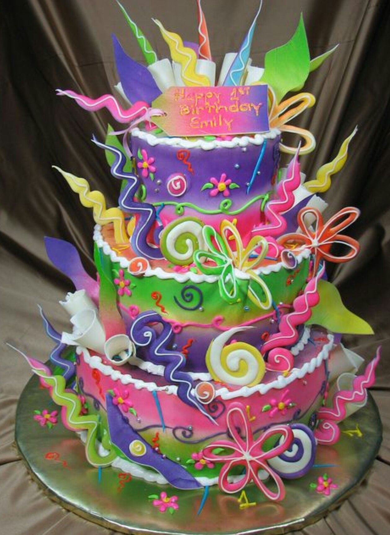 Remarkable Funky Fun Birthday Cake With Images Cool Birthday Cakes Personalised Birthday Cards Arneslily Jamesorg