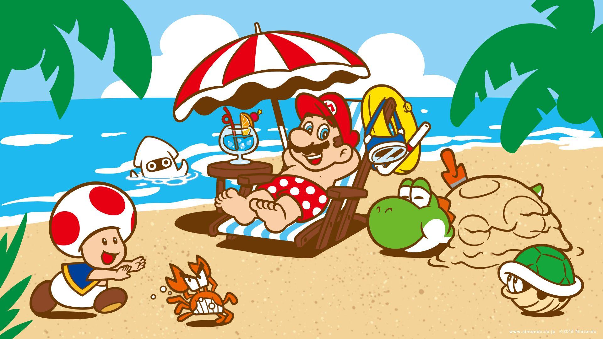 Super Mario desktop wallpaper 1920 x 1080 Mario et luigi