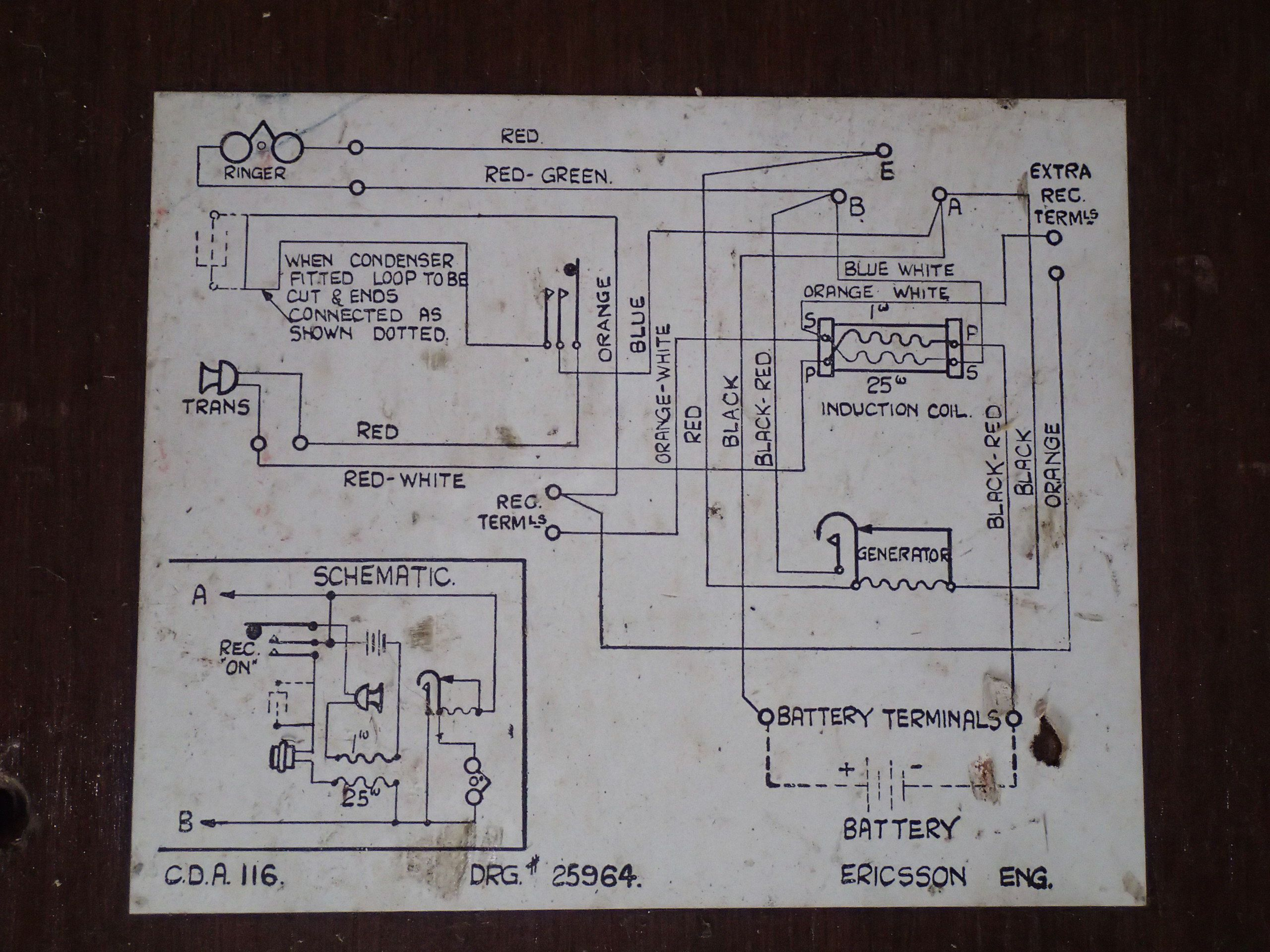 Phone number 2  wiring diagram | Mago wall telephones