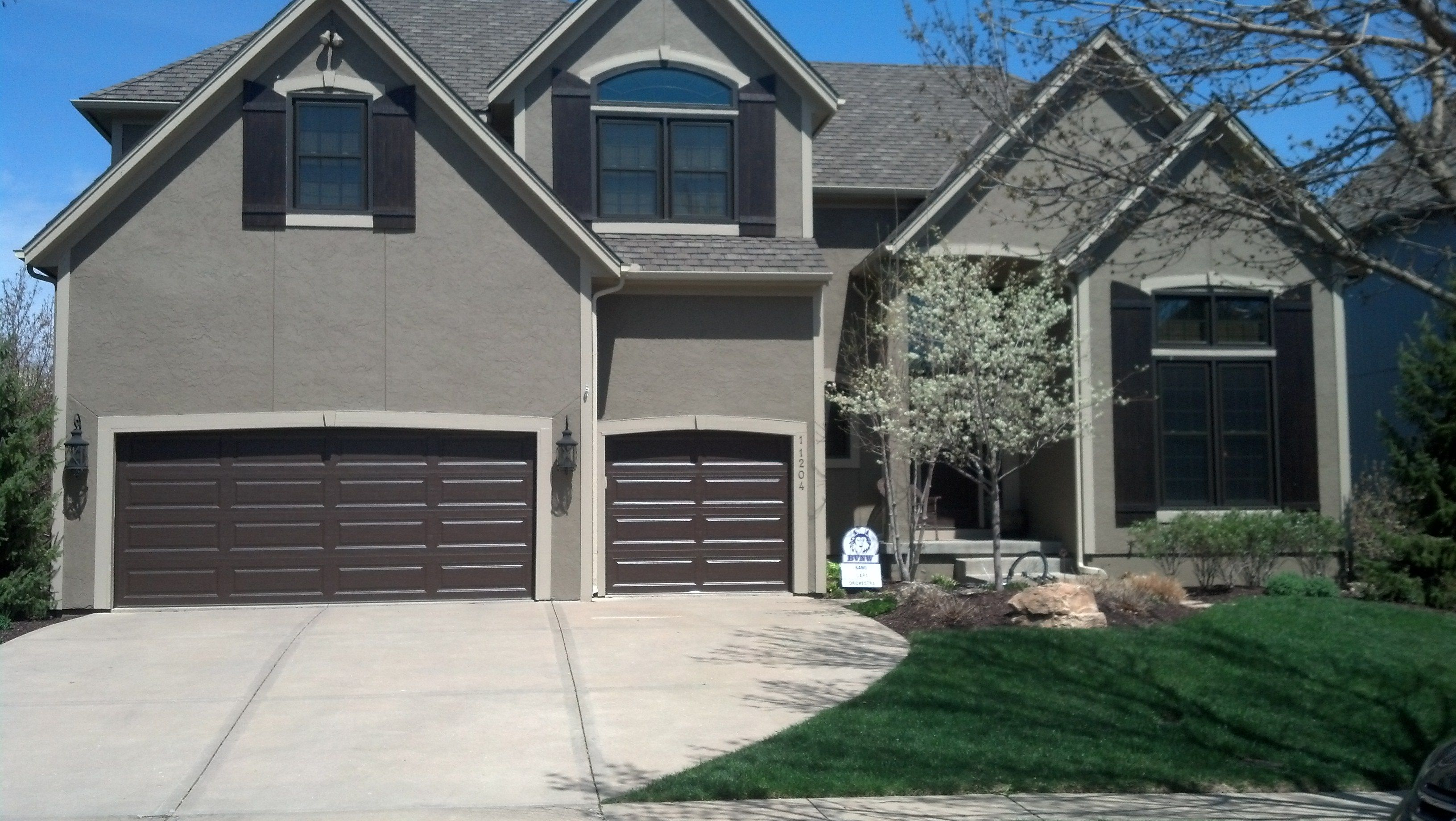 Clopay Classic Collection, Premium Series, Long Panel Chocolate Brown Garage  Doors, Double