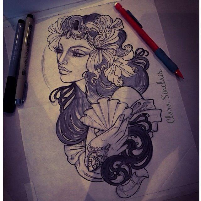 Aphrodite By Clara Sinclair Aphrodite Tattoo Goddess Tattoo Tattoo Themes