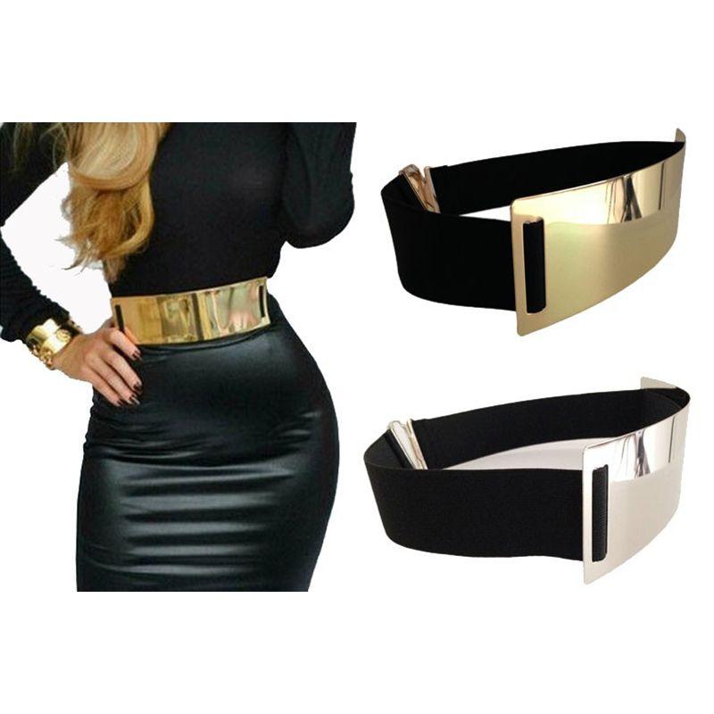 Cinturón Cinturones de Diseño para Mujer de Plata de Oro Marca caliente  Elegante Elástico cinturón ceinture femme 3 color ladies Apparel Accesorio a1f67bc88c64