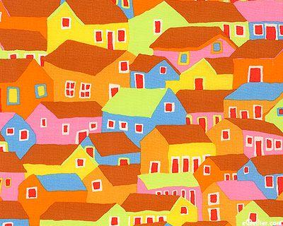 Kaffe Fassett Collective Spring 2014 - Shanty Town - Sienna
