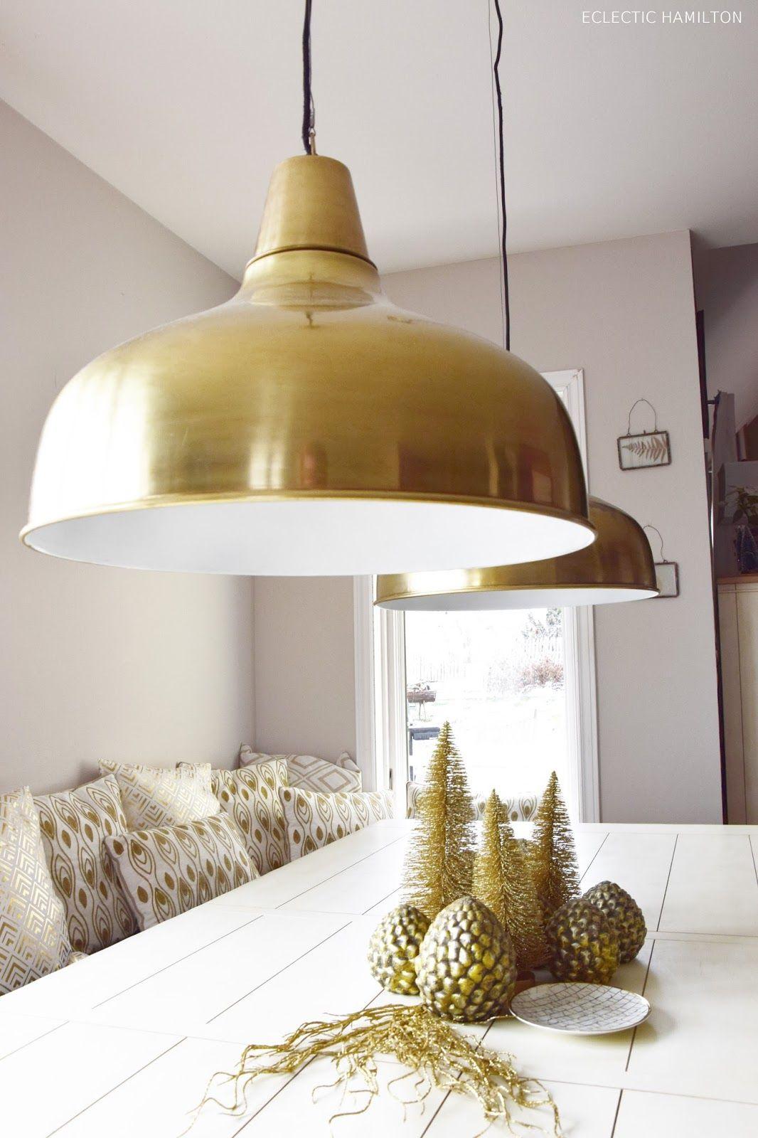 Attraktiv Die Perfekte Lampe Für Das Esszimmer Und Tolle Weihnachtsdeko In Gold.Tipps  Zum Leuchtmittelkauf /