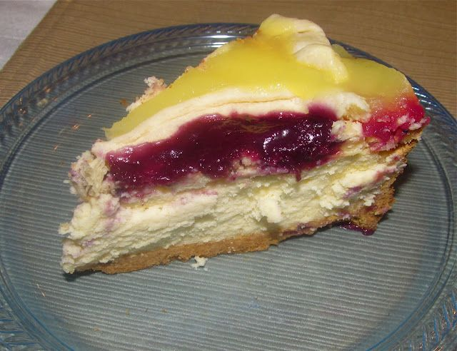 """What my 87-year-old Grandma calls the """"Ultimate Cheesecake."""" Plus it bleeds purple and gold. Geaux Tigers!"""