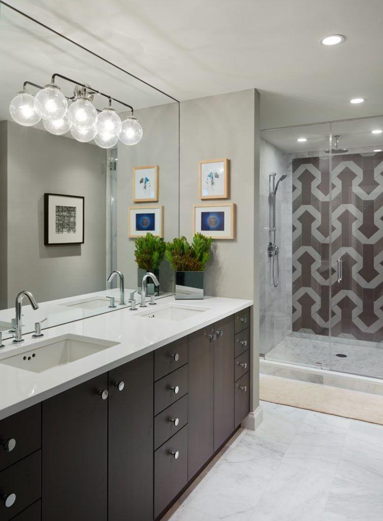 a modern industrial condo in chicago  modern bathroom