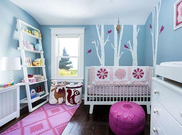 Chambre de bébé stylée et reposante : en avant le bleu ...