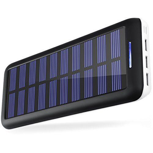 Portable Chargers Kedron 22000 Solar Charger 22000mah External Battery Pack 2 Port Input 3 Usb Output Pow Solar Battery Charger Solar Charger Portable Charger