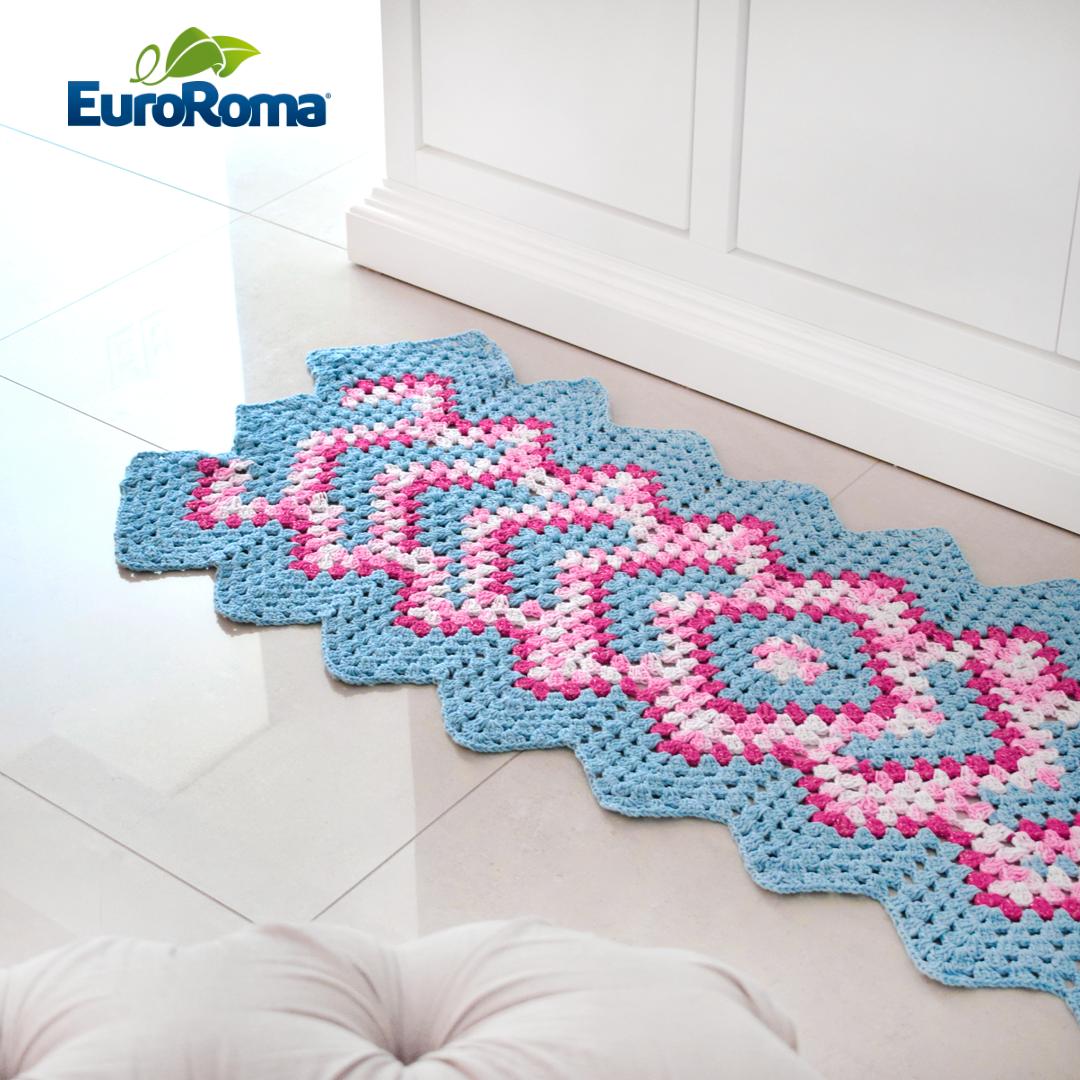 euroroma-barbante-croche-tapete-milano-brilho | crochês da Ana ...