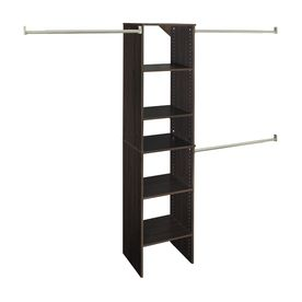 Charming ClosetMaid 9 Ft Espresso Wood Closet Kit