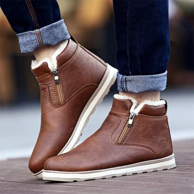 SAGACE Men Winter Warm Boots Casual