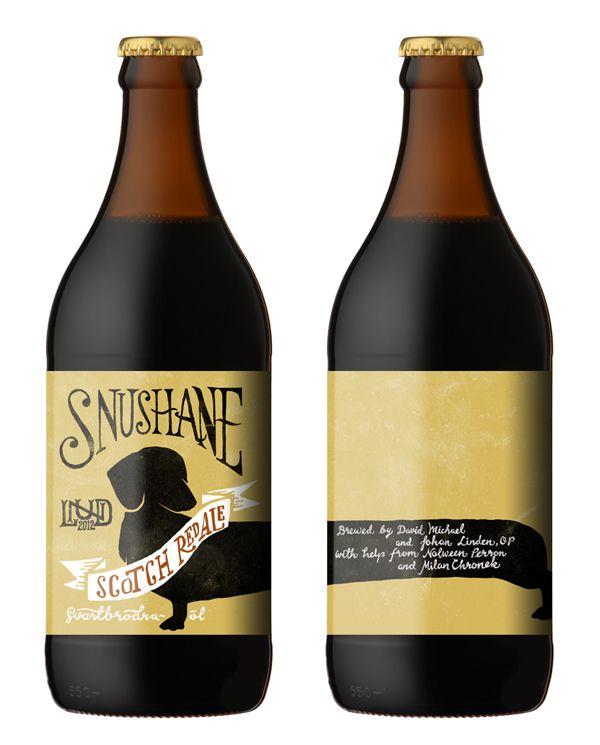 // Snushane   Beer label //