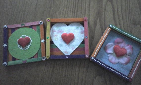 A set of 3 handmade coasters wooden coasters elegant by Bubucraft