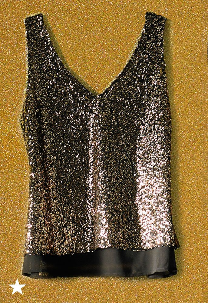 8c59a13432b808 Top off your sparkly New Year's Eve look with this sequin tank from Macy's.  Style