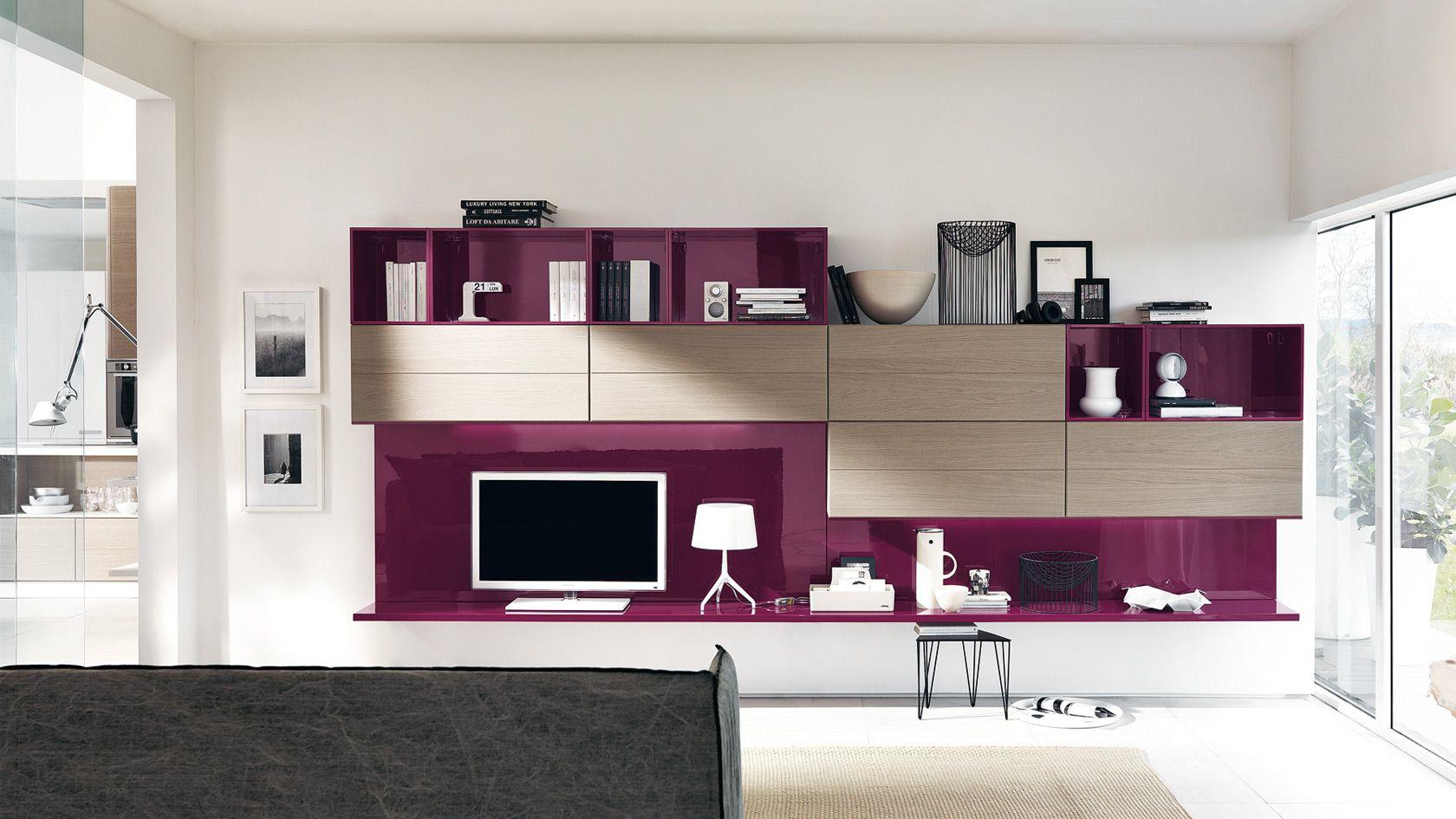 Soggiorno Viola ~ Soggiorno open sito ufficiale scavolini mobili soggiorno