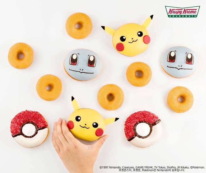 South Korean Krispy Kreme Pokémon Doughnuts http://geekxgirls.com/article.php?ID=7687