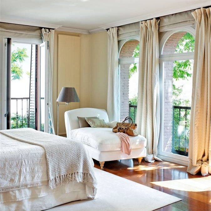 25 consejos para acertar con las cortinas c a s a s pinterest cortinas dormitorios y casas - Cortinas dormitorio principal ...