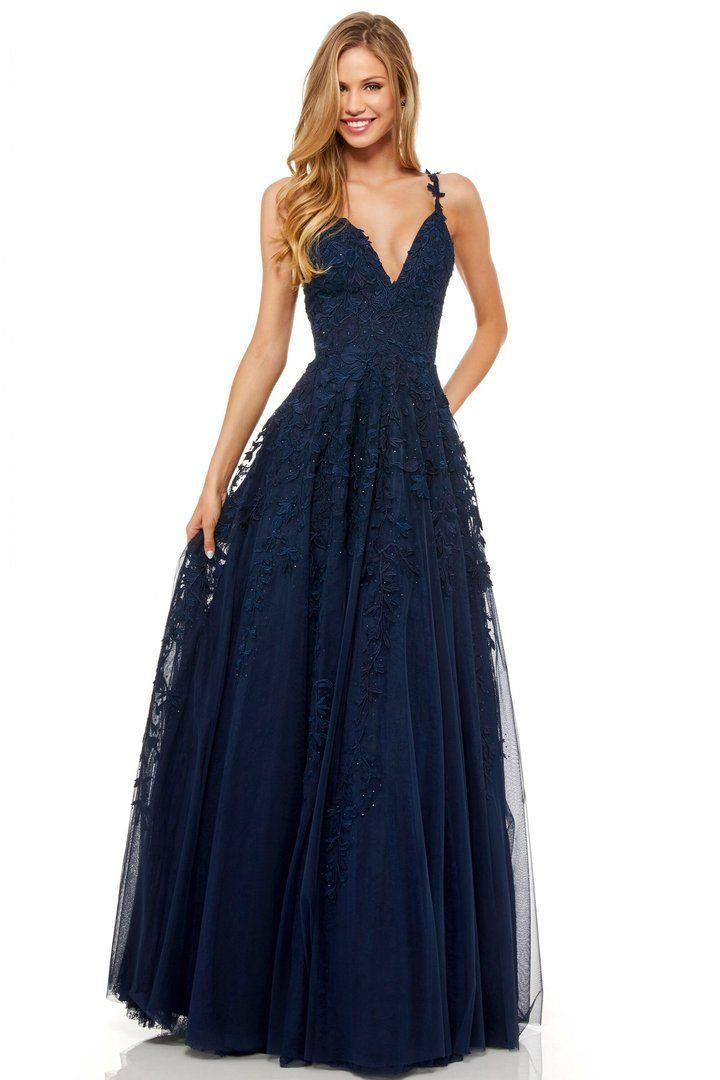 Sherri Hill 51749 - Beaded Long Fitted V-Neck Prom Dress