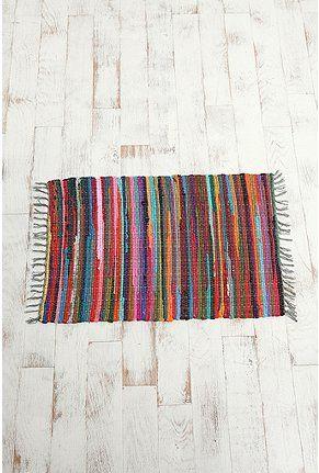 UO rainbow rag rug.