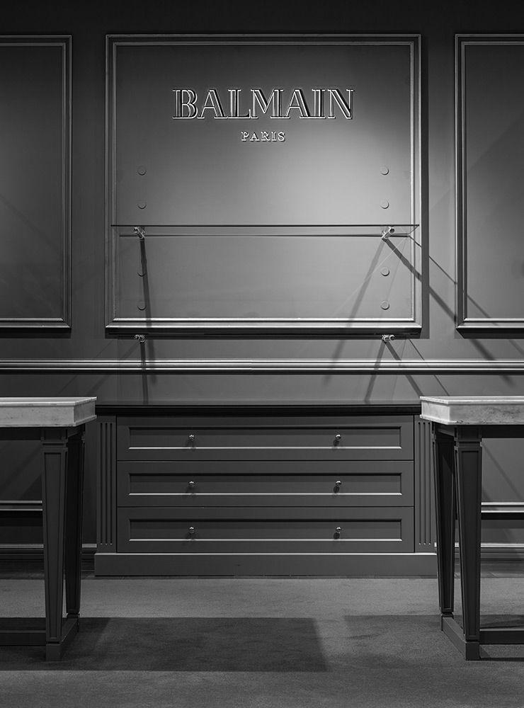 balmain boutiques tokyo hankyu online store retail. Black Bedroom Furniture Sets. Home Design Ideas