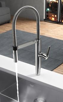 Charming BLANCO CULINA Semi Pro   Stainless Professional Faucet With A Clean  Contemporary Styling!