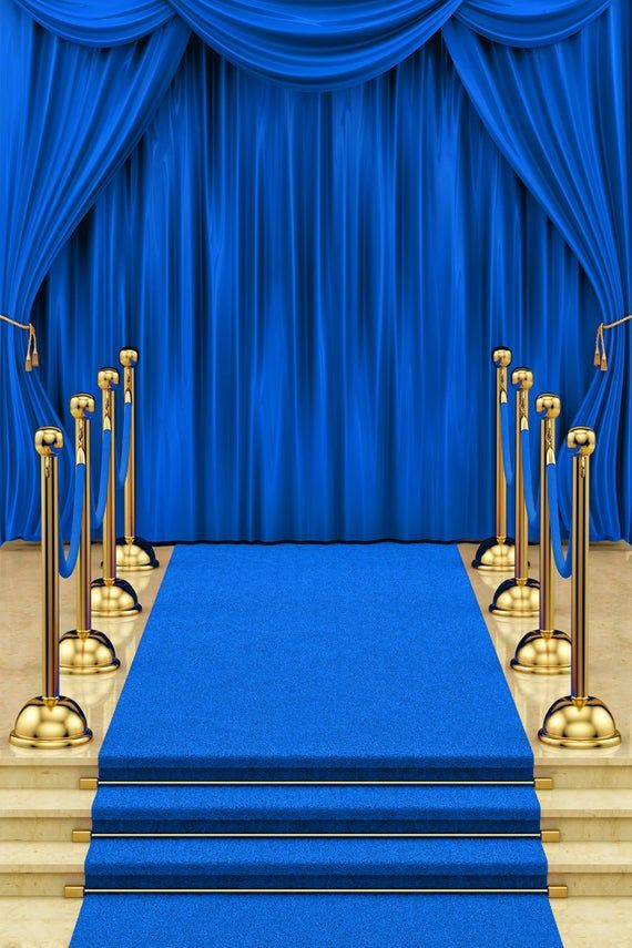 Blue Curtains Carpet Stage Photography Backdrops Gold Etsy Photography Studio Background Photography Backdrops Desktop Background Pictures