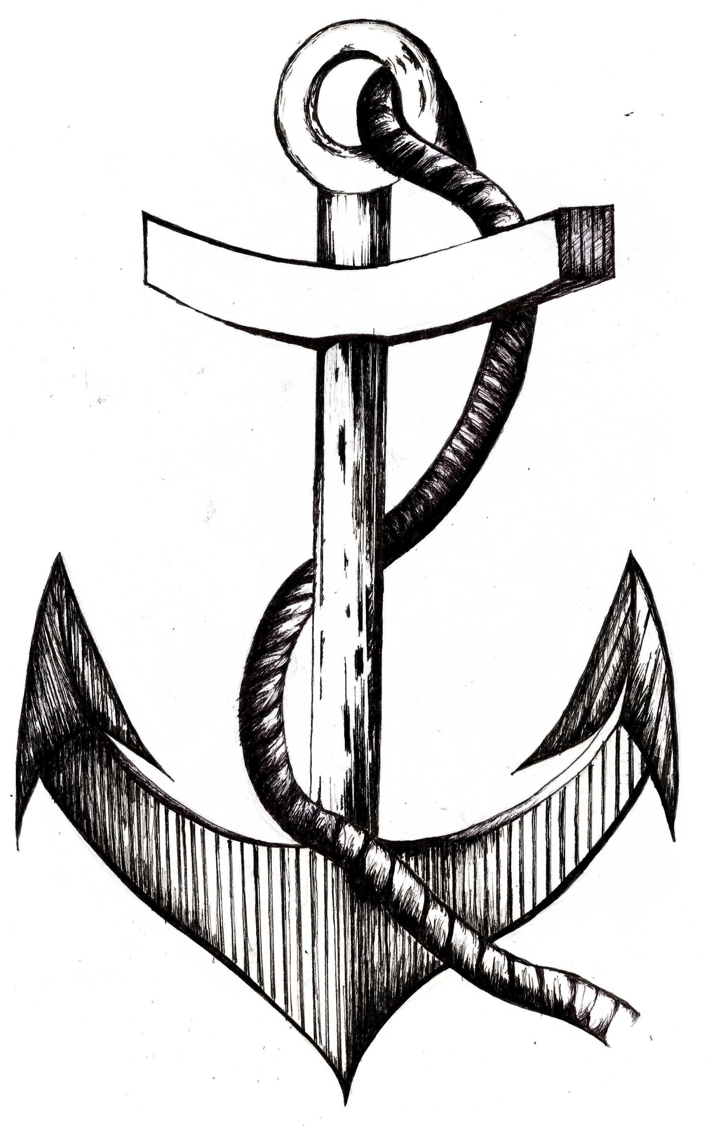 Anchor Illustration Using Fine Liner