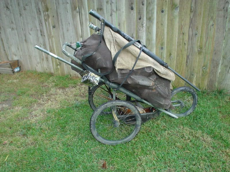 Used 3 wheel jogging stroller modified with a little bit of