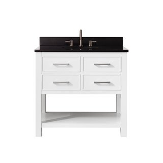 Avanity Brooks 37 Inch White Vanity Combo With Top And Sink