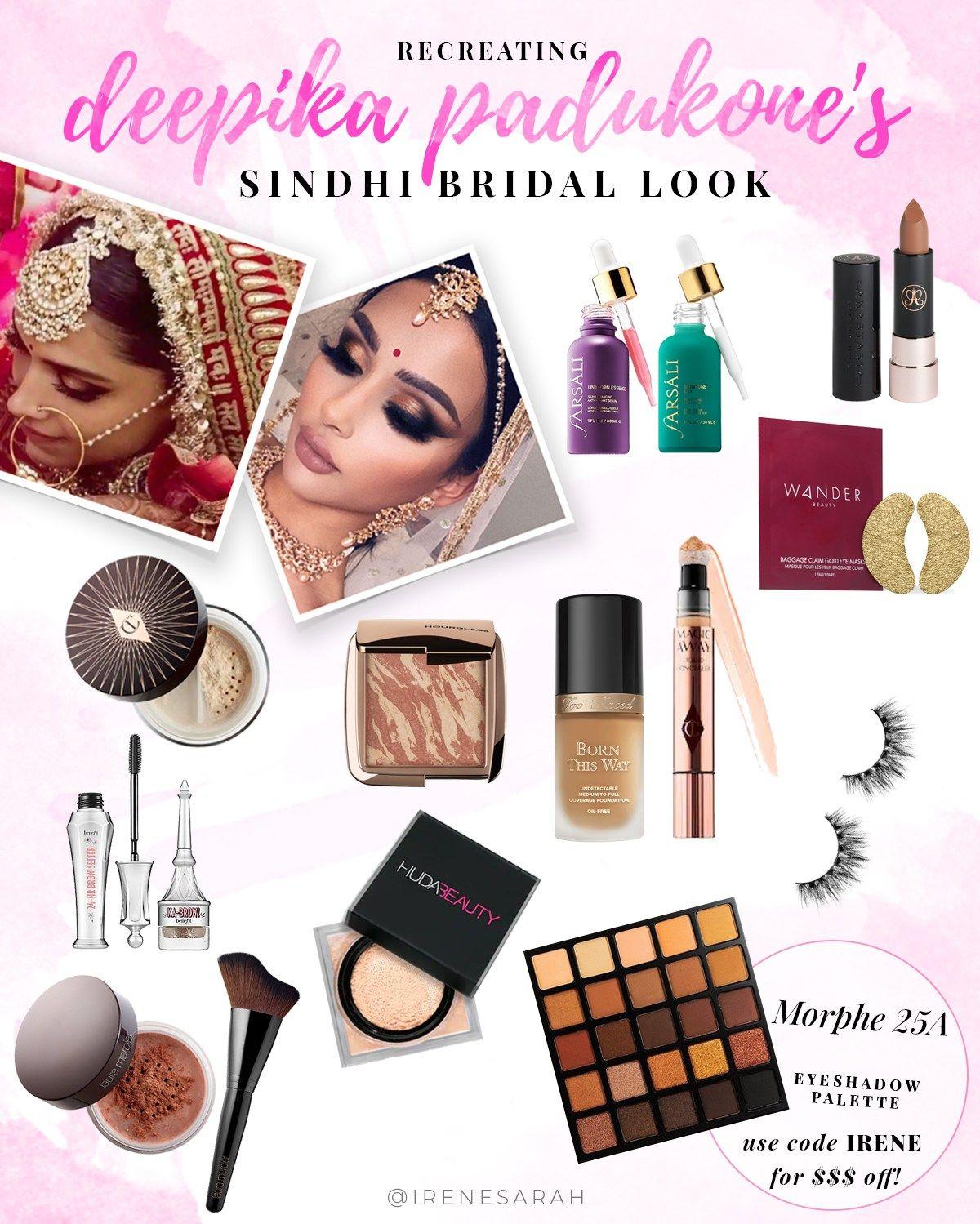 Deepika Padukone Sindhi Bridal Makeup Tutorial | Bridal ...