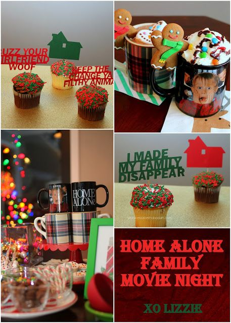 Home alone movie night party decor decoration ideas macaulay culkin cupcake toppers also birthday parties pinterest rh