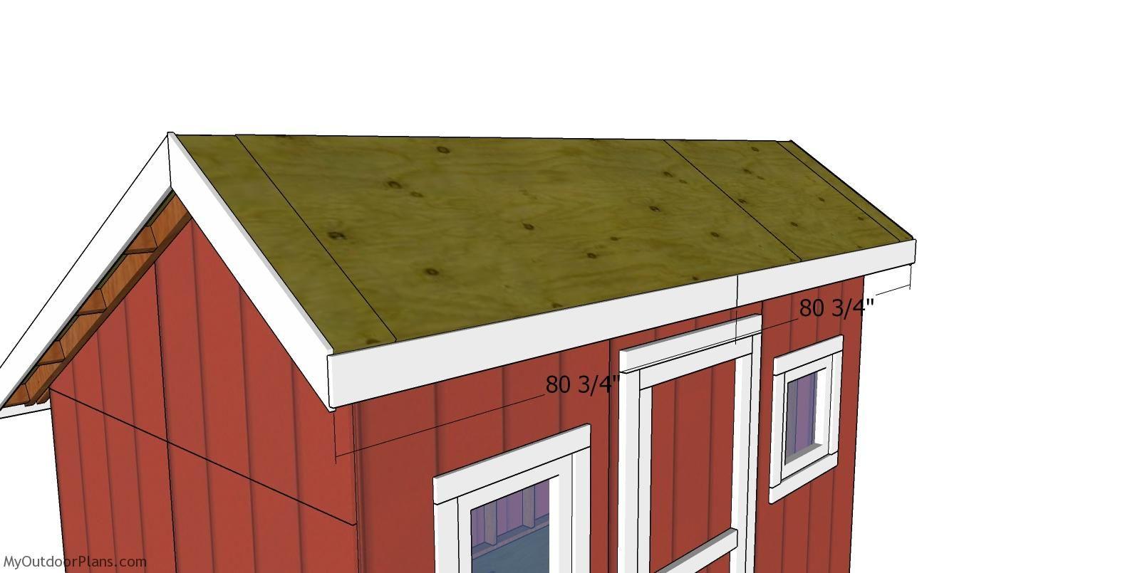 8x12 Saltbox Shed Roof Plans MyOutdoorPlans Free