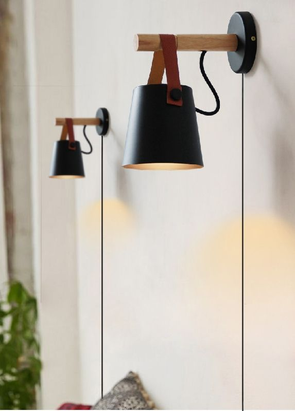Iron Art Belt Wall Lamp With 5 9ft Ul Certification Plug In Button Cord Lighting Round Bucket Loft Style Wall Wall Lamps With Cord Wall Lamp Wall Mounted Light