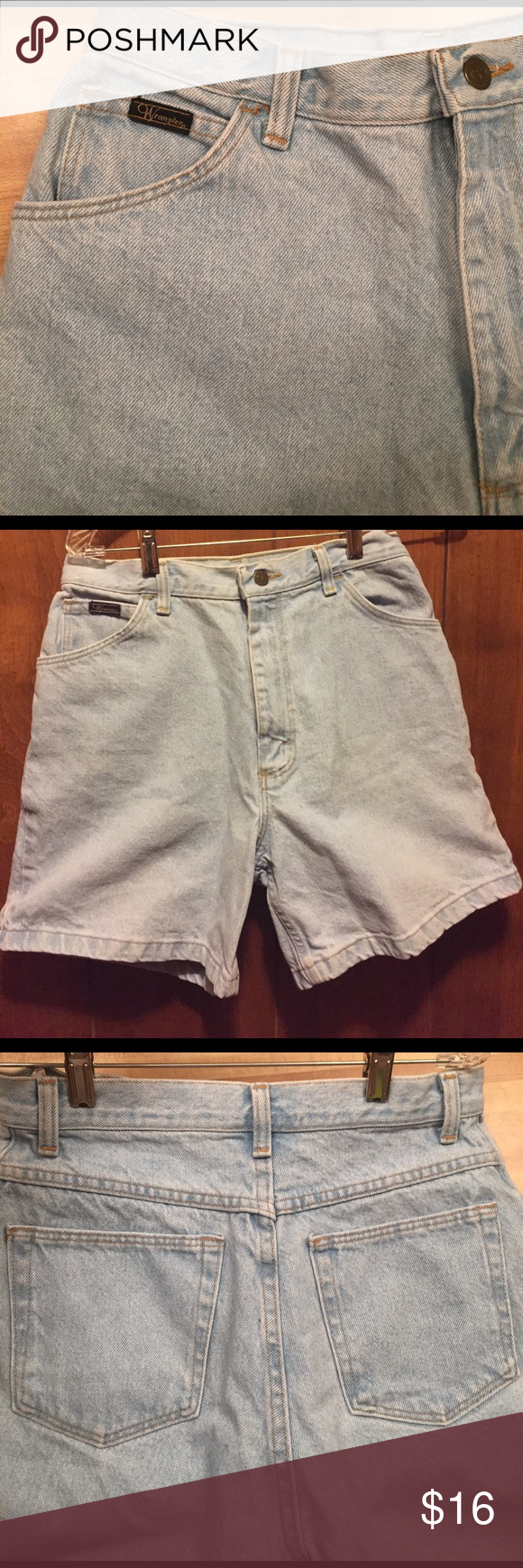 Vintage Mom Jean Shorts! 90s vintage mom jeans: fits a size 27-28! High waisted. Wrangler Shorts Jean Shorts