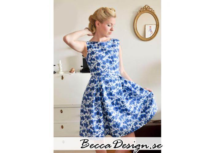 50's blue flower dress #vintage #dress #sewing #design #50's #flower