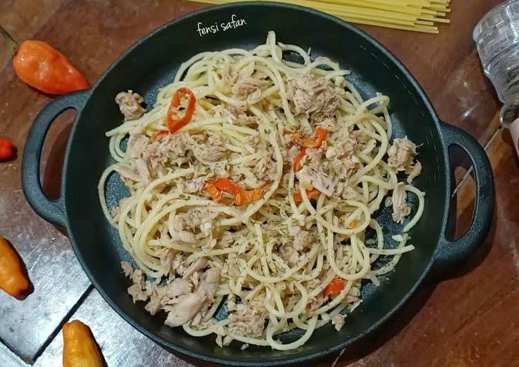 Spaghetti Aglio Olio Di 2020 Resep Masakan Masakan Resep
